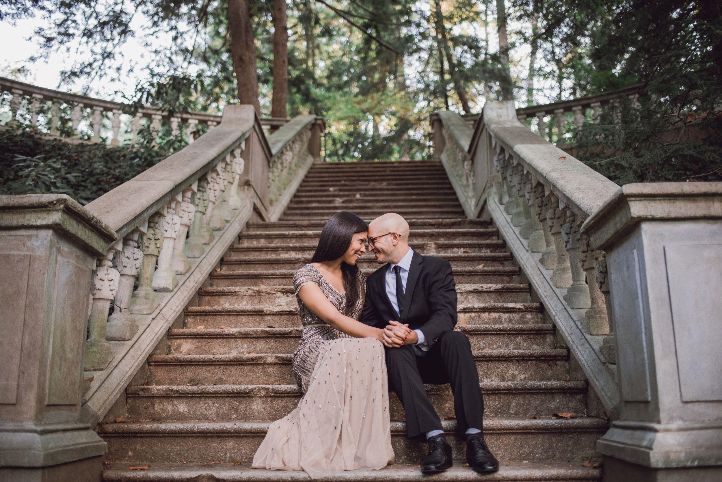 Jeff Svetlana Ll Cator Woolford Gardens Engagement Atlanta GA Wedding Photographer