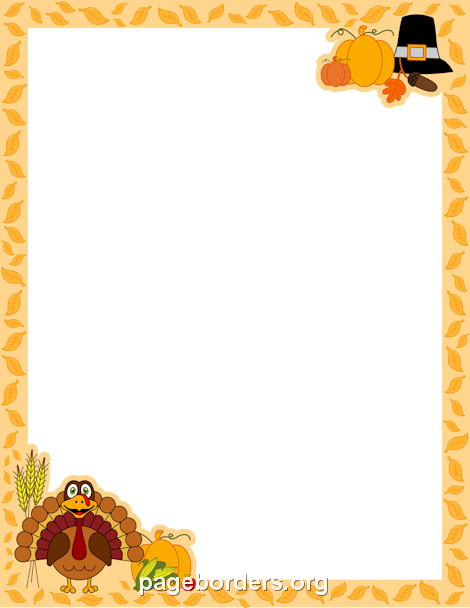 photo regarding Free Printable Thanksgiving Borders identify Thanksgiving Border Printable Ribbons, Frames Borders