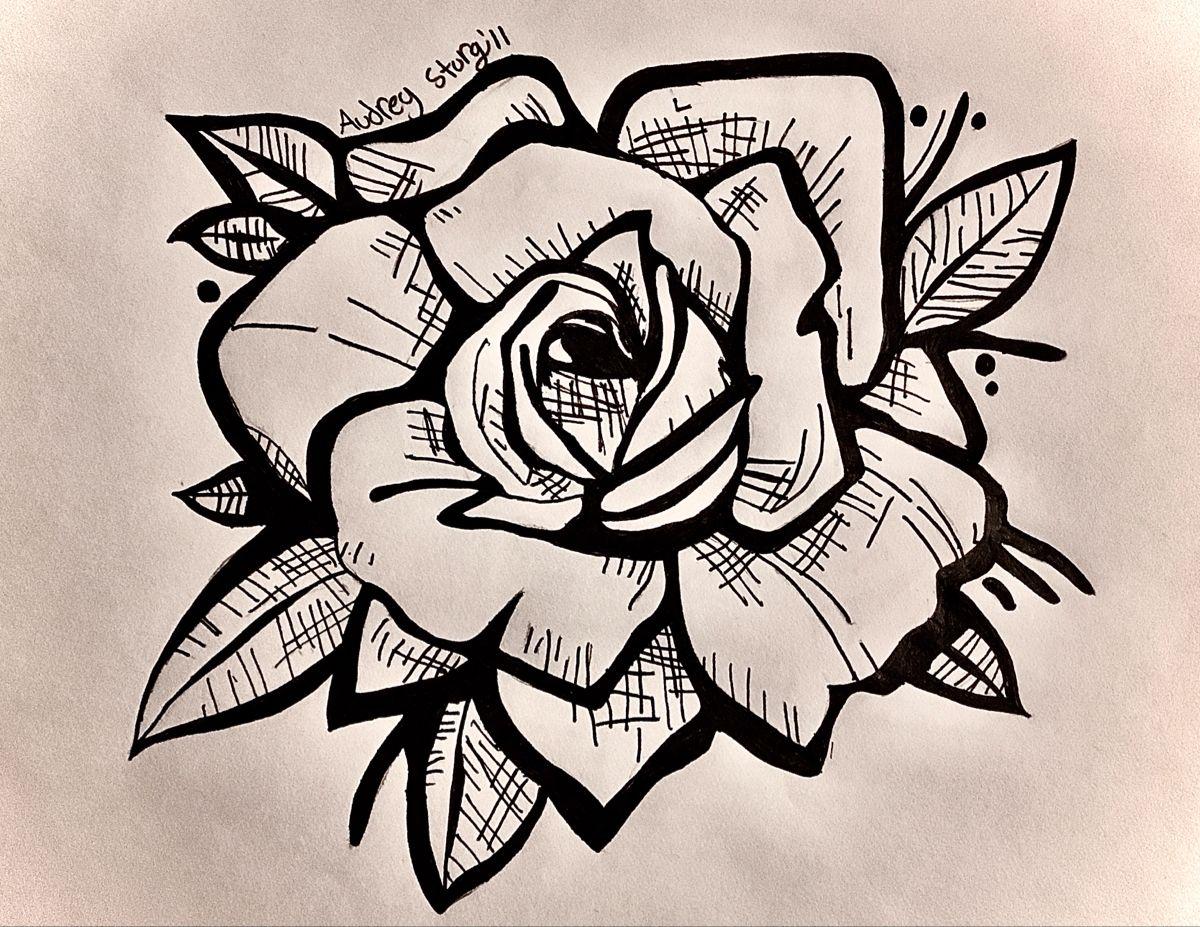 #rose #roseart #art #flower #blackrose #rosetatto