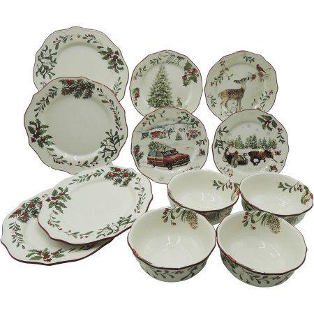 Better Homes and Gardens Heritage 12-Piece Dinnerware Set - Walmart ...