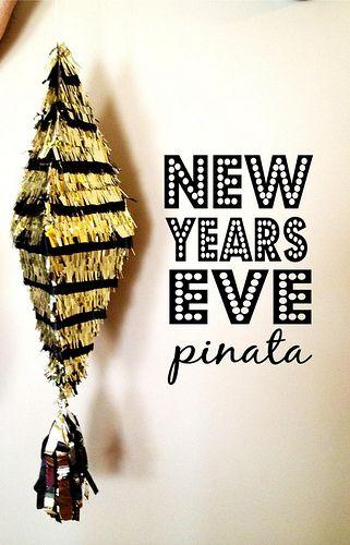 Booze Yada Two Tone Pinata New Years Eve Fabric Paper