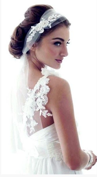 4 Romantic Wedding Hairstyles with Veils | Vintage updo ...