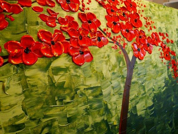 "Painting: ""Elegant In Red""  Painter: Nicolette Vaughan Horner  Site: Etsy  Shop: Artmod  Shop Owner: Nicolette Vaughan Horner"