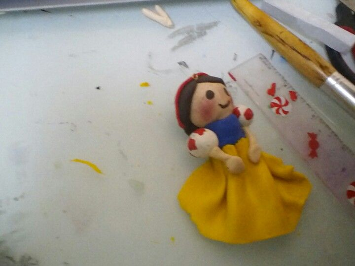 snow white made of clay inspired by debby arts