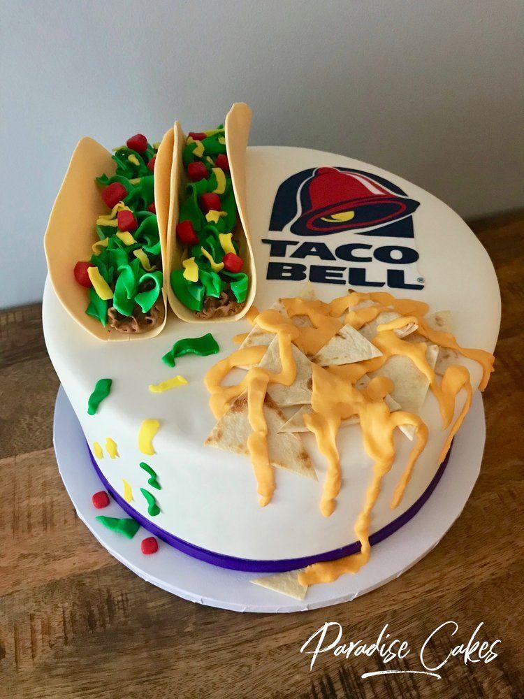 Taco bell cake celebration cakes cake taco cake
