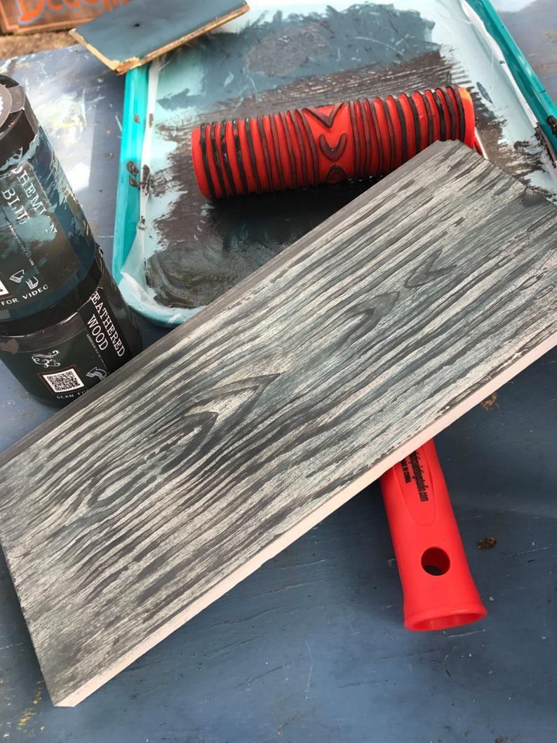 Wood Grain Pattern 7 Decorative Art Paint Roller Paint Roller