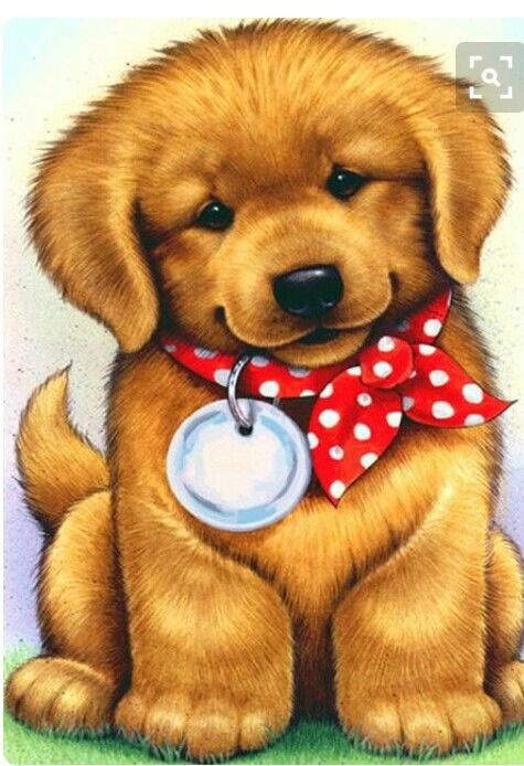 Golden Retriber Dog Clip Art Puppy Art Cute Animal Drawings