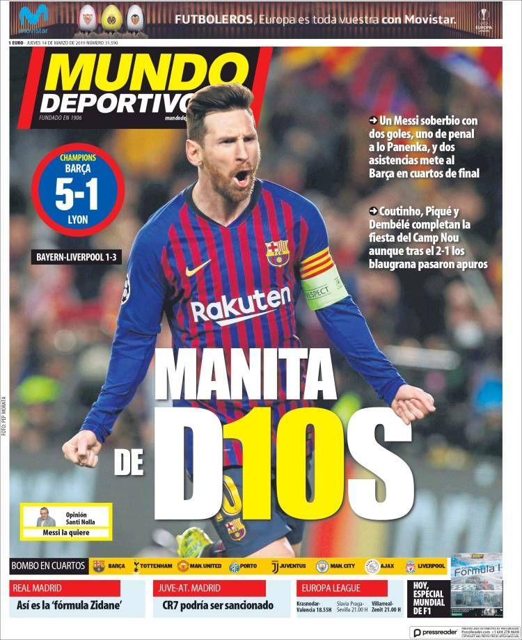 20190314 Periódico El Mundo Deportivo (España
