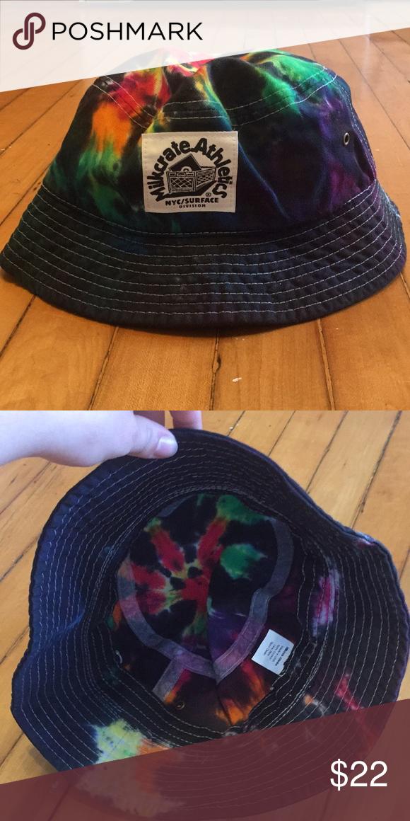 0718f3b07 Milkcrate Athletics tie dye bucket hat Rainbow tie dye bucket hat ...