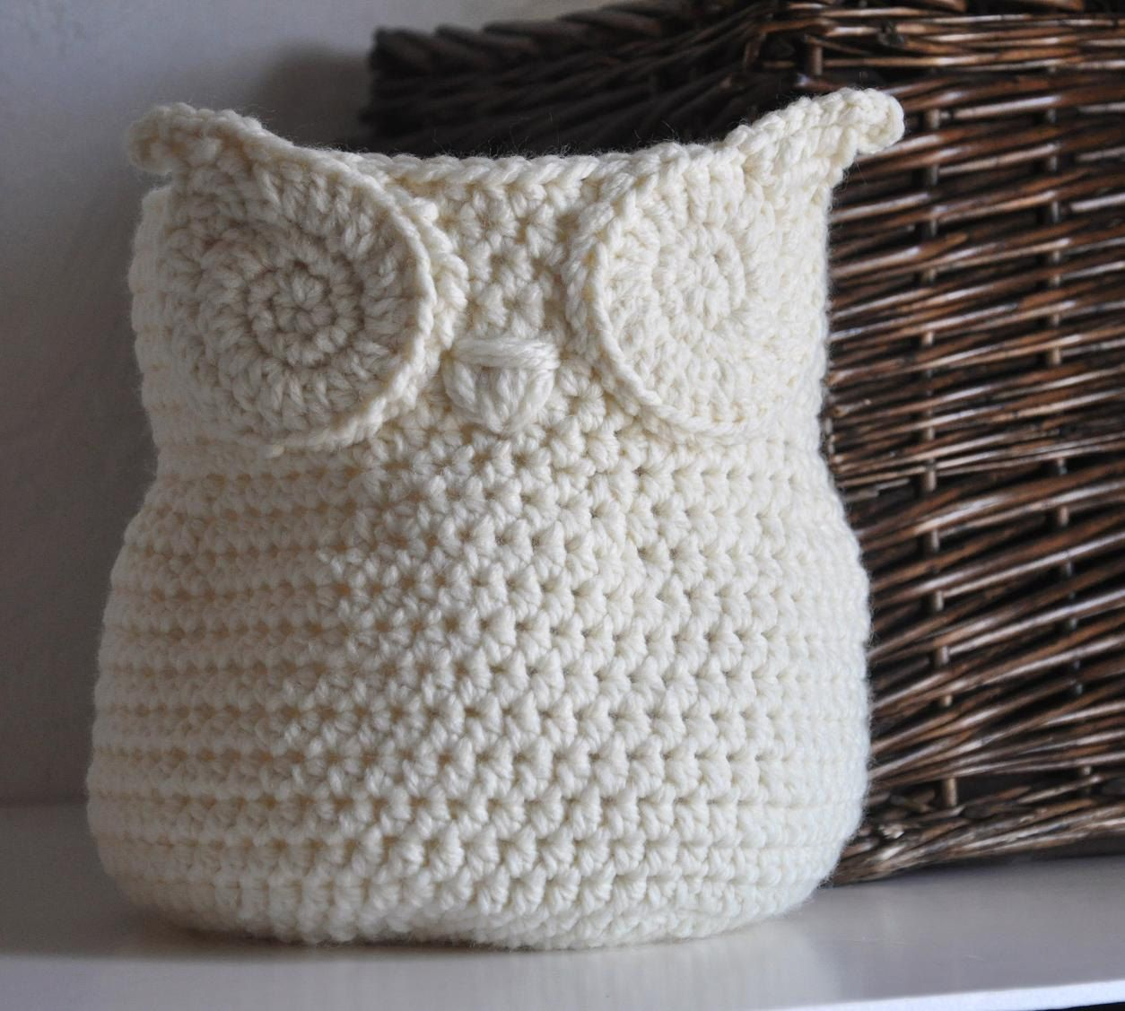 Owl basket crocheted bin yarn holder nursery by aandbdesignstudio owl basket crocheted bin yarn holder nursery by aandbdesignstudio 4000 bankloansurffo Images