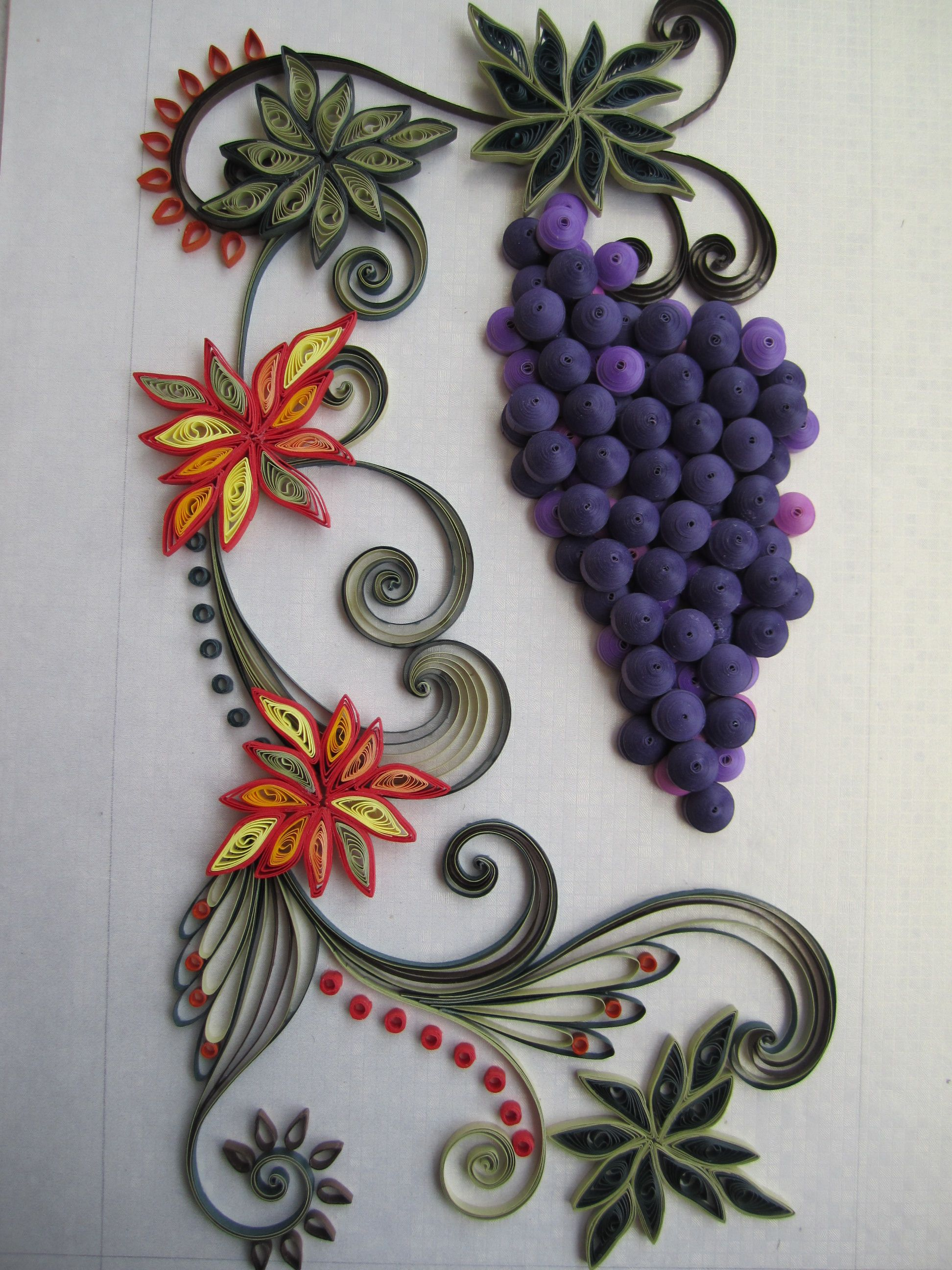 Wall frame quilling cafe quilling to try pinterest for Paper quilling work