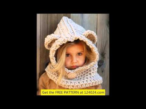How To Crochet Adult Or Child Hooded Bear Cowl Youtube Mirto