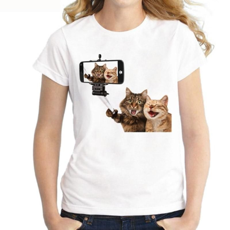 03bc2b151 Funny Selfie Stick Cats T Shirt | Cats on T-shirts | T shirts for ...