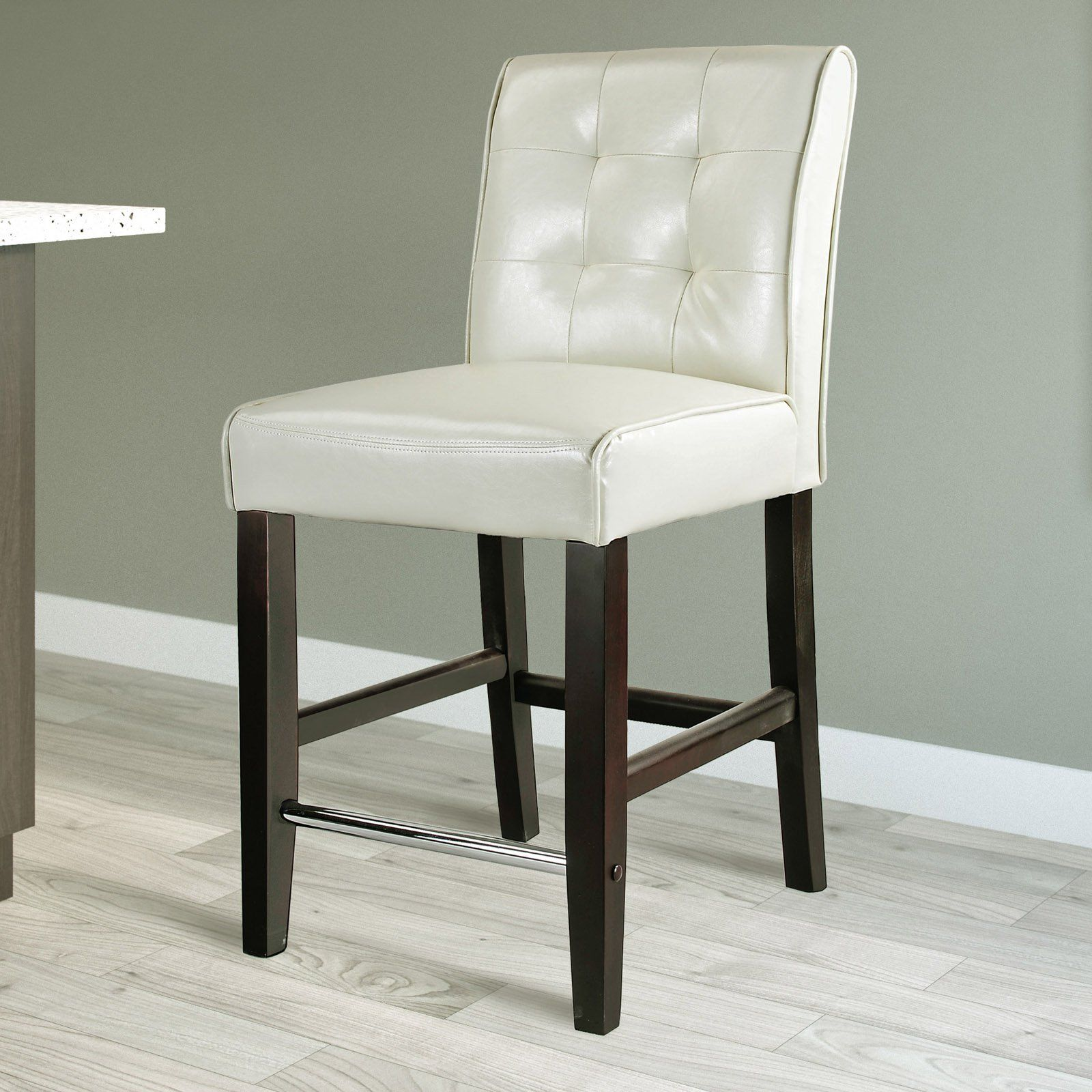 CorLiving Antonio Tufted Back Counter Height Stool