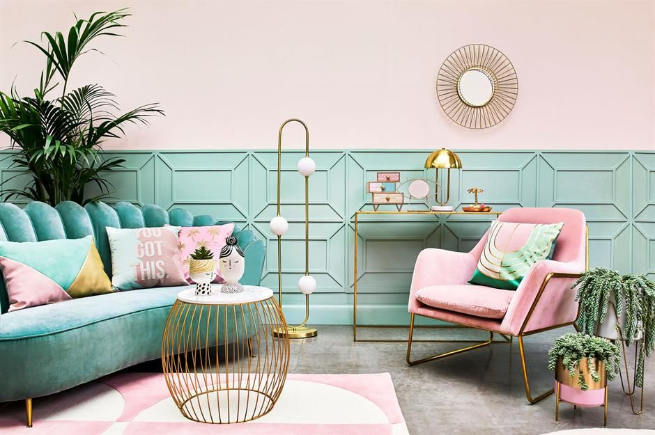 Bold Color Combo Pink Teal Living Room Color Schemes Living Room Colors Room Colors