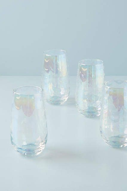 Anthropologie Gather by Lustered Highball Glasses, Set of 4 ...