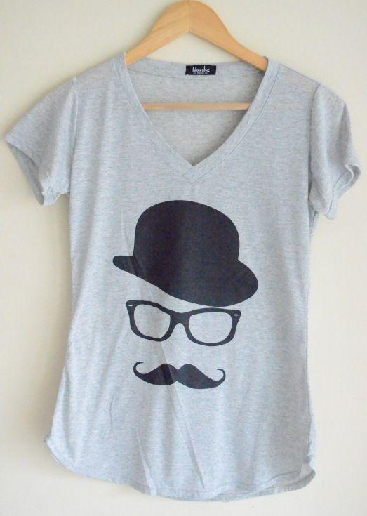Camiseta Bigode - Lilou Chic Couture - $45.90