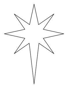 Christmas Star Printable Bethlehem Star Pattern Bethlehem Star Craft Crafts Creating Christmas Star Star Template Christmas Star Crafts Christmas Stencils