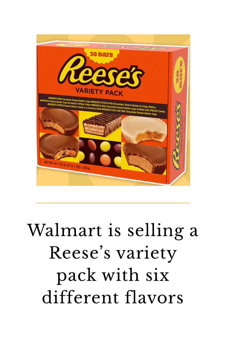 Walmart Is Selling A Large Reese's Variety Pack Filled