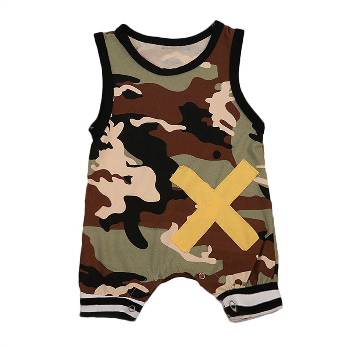 dd1a0db8a1f Newborn Infant Kids Baby Boys Clothes Jumpsuit Romper Sunsuit Playsuit  Outfits Sleeveless Cotton Clothes  Affiliate