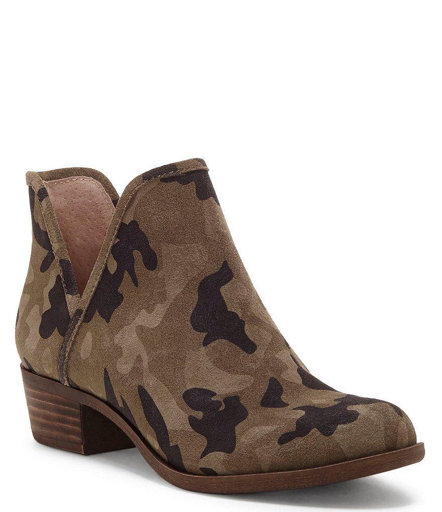lucky brand bashina 2 leopard block heel booties
