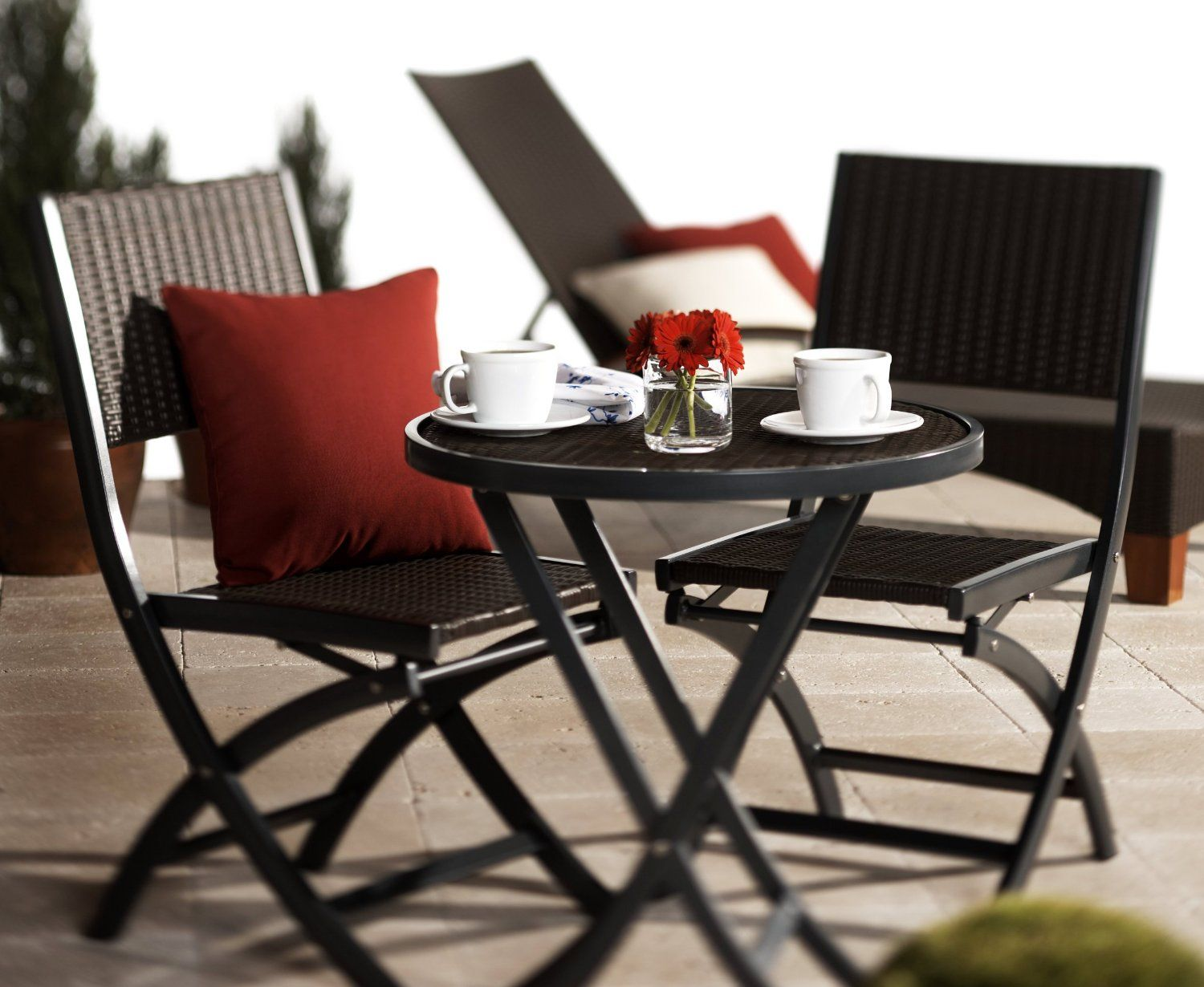 Amazon.com: Strathwood Ritta All Weather Wicker 3 Piece Bistro Set,