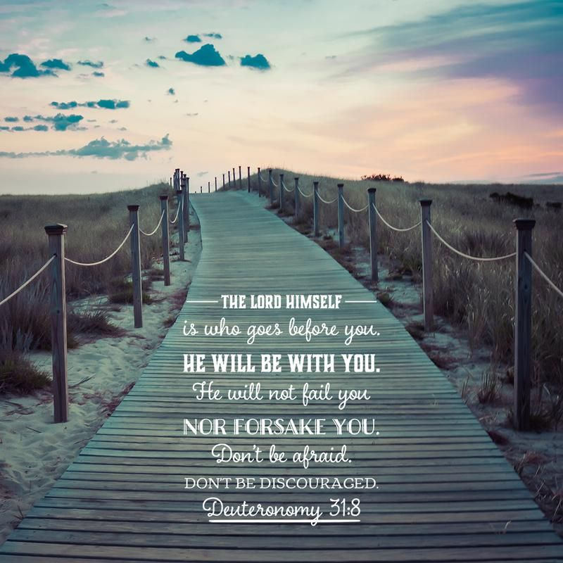 Deut 31:8 - Lord Before You #bible