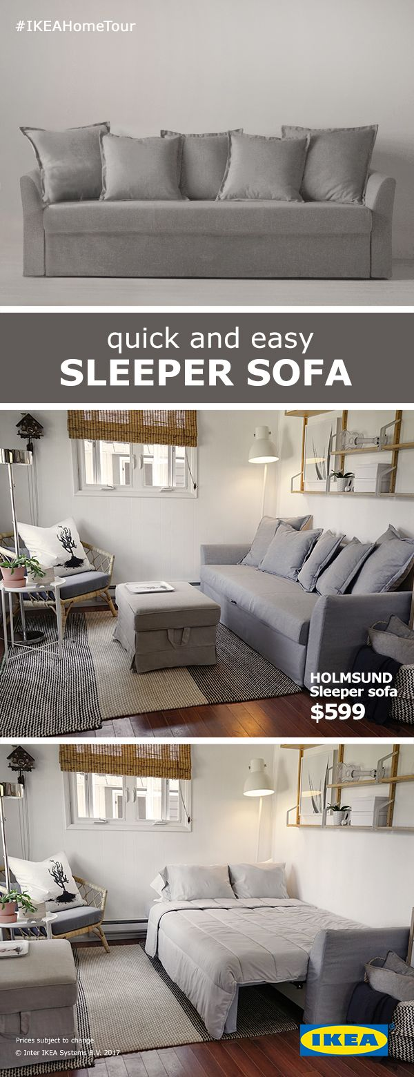 holmsund sleeper sofa nordvalla medium gray