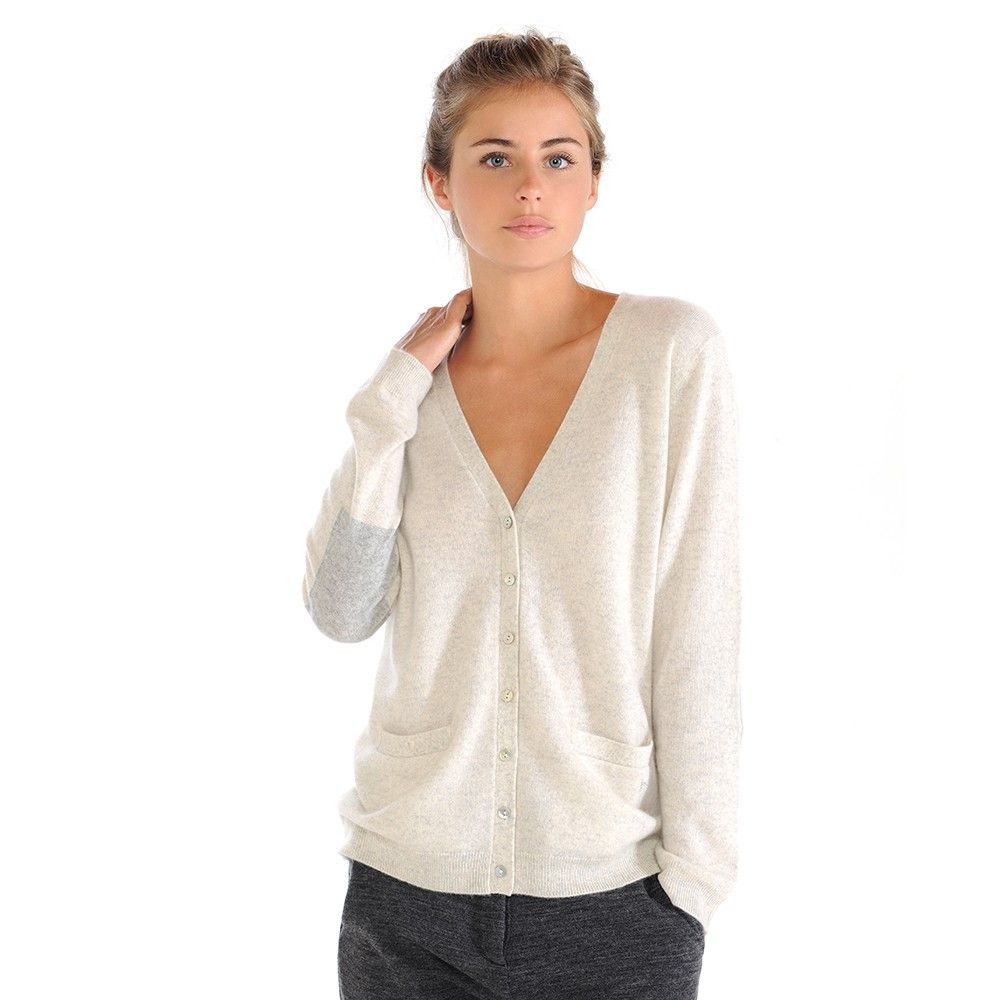 Women's V Neck Cashmere Cardigan Sweater | Pockets, Mother of ...