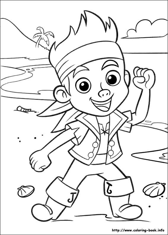 Jake And The Never Land Pirates Coloring Picture Pirate Coloring Pages Pirate Theme Disney Coloring Pages