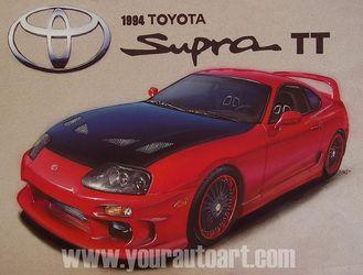 Toyota Supra TT Car Art Drawing