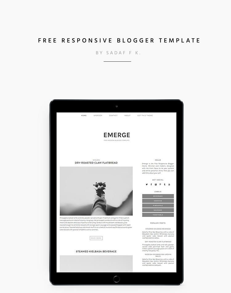 Free modern and responsive blogger template for daily lifestyle or free modern and responsive blogger template for daily lifestyle or business blogging featuring minimal and cheaphphosting Images