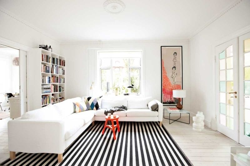 Extra Large Black And White Area Rug For Living Room