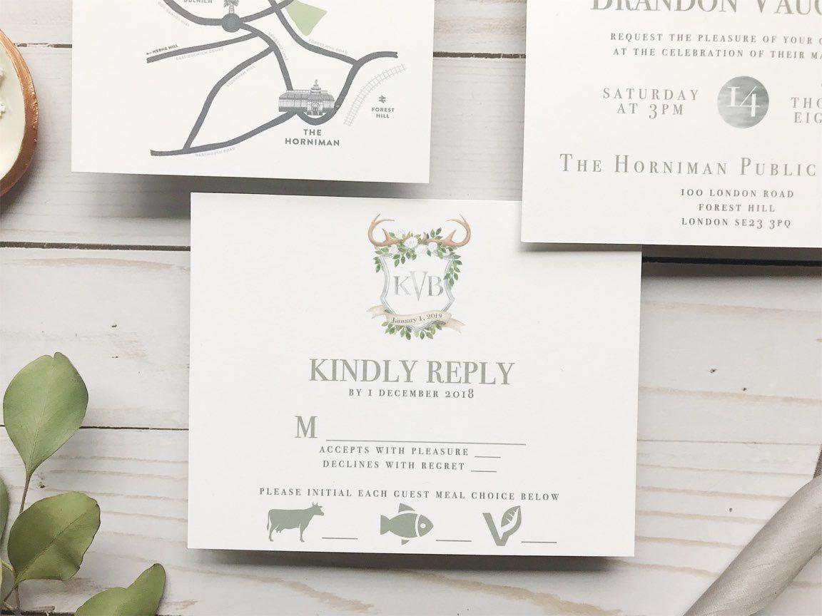 Custom Wedding Invitation Reveal: Rustic Monogram | Monograms ...