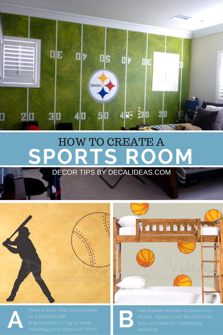Boys Room Ideas For A Sports Soccer Football Basketball Court