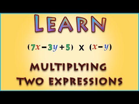Multiplication Between Expressions   Algebra   Math   LetsTute - YouTube