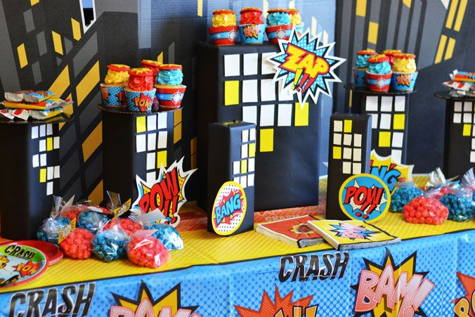 Superhero Party Birthday Express Superhero Party Decorations Superhero Birthday Party Superhero Birthday Decorations