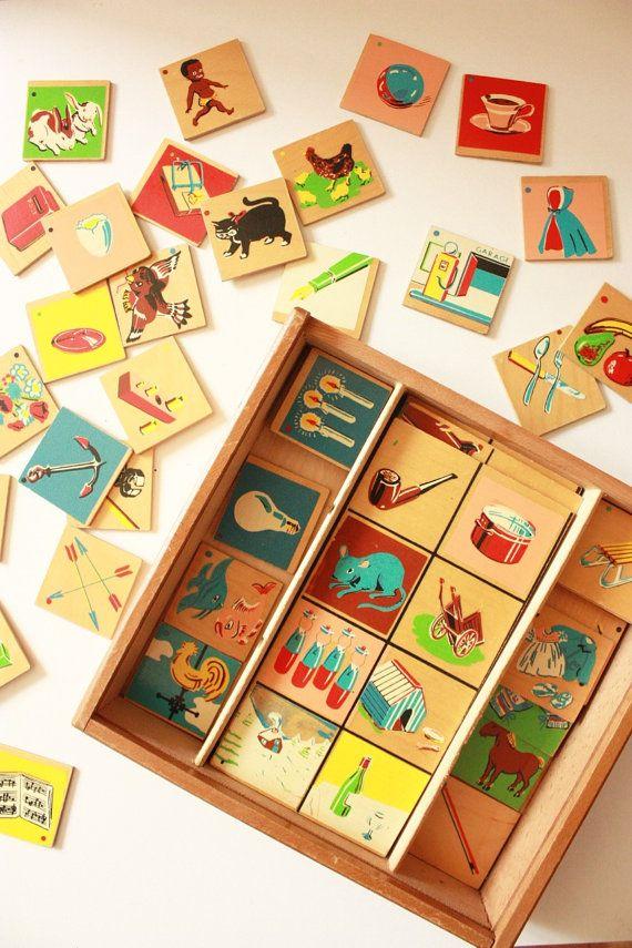 Vintage Wooden Puzzle J Blokland Holland by TriBecasVintage