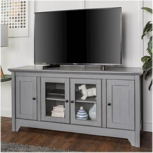 Walker Edison Tv Cabinet For Most Tvs Up To 55 Antique Grey