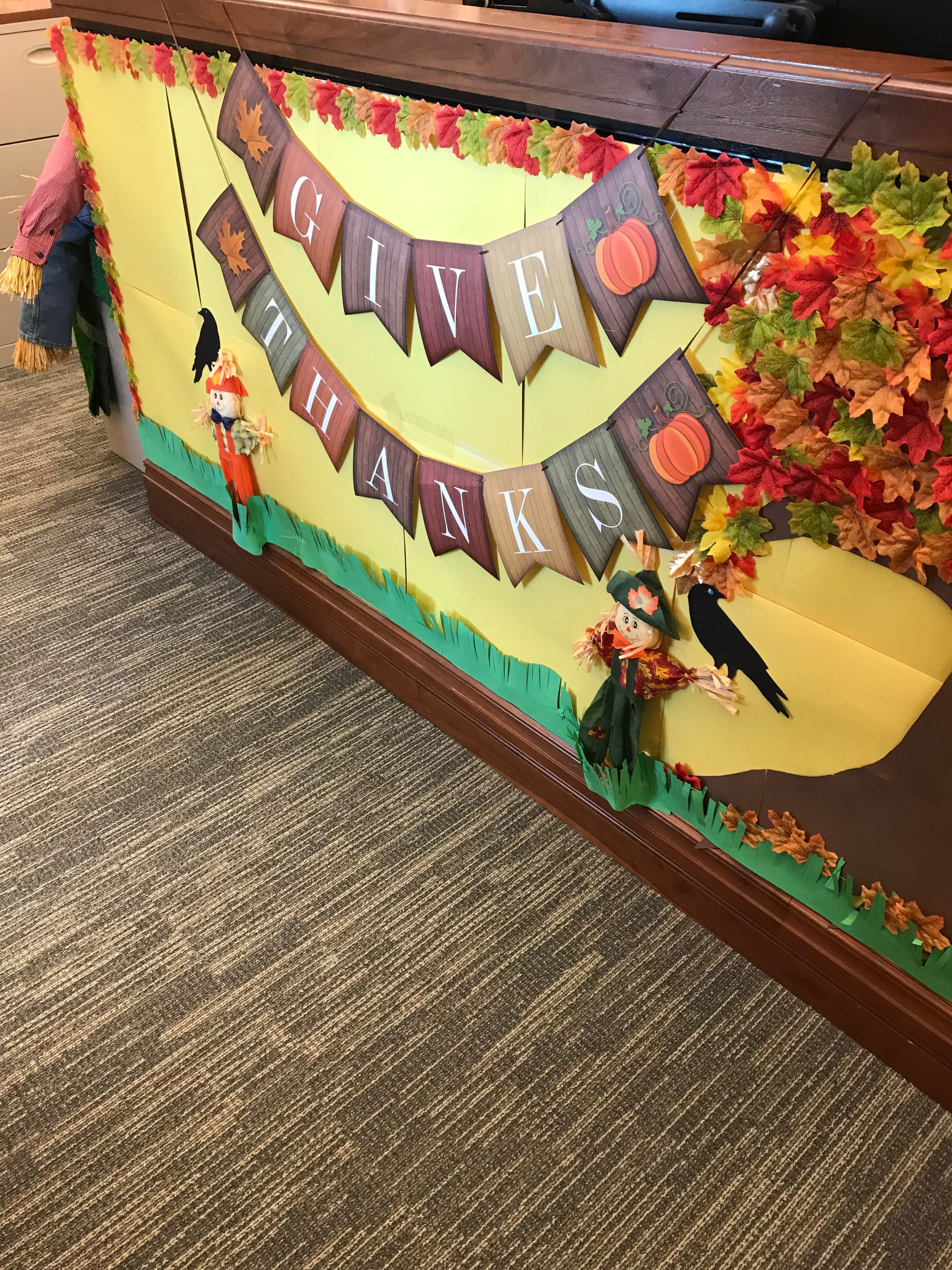 marvellous thanksgiving office decorations | Fall cubicle decorating | Office cubicle, Office decor