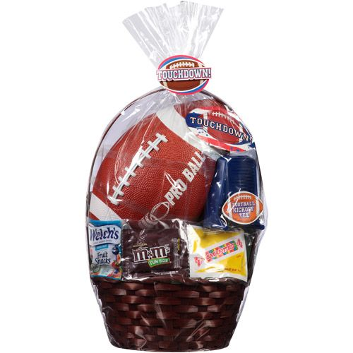 Touchdown easter basket with football tee and assorted candies easter basket with football tee and assorted candies gift baskets walmart negle Gallery