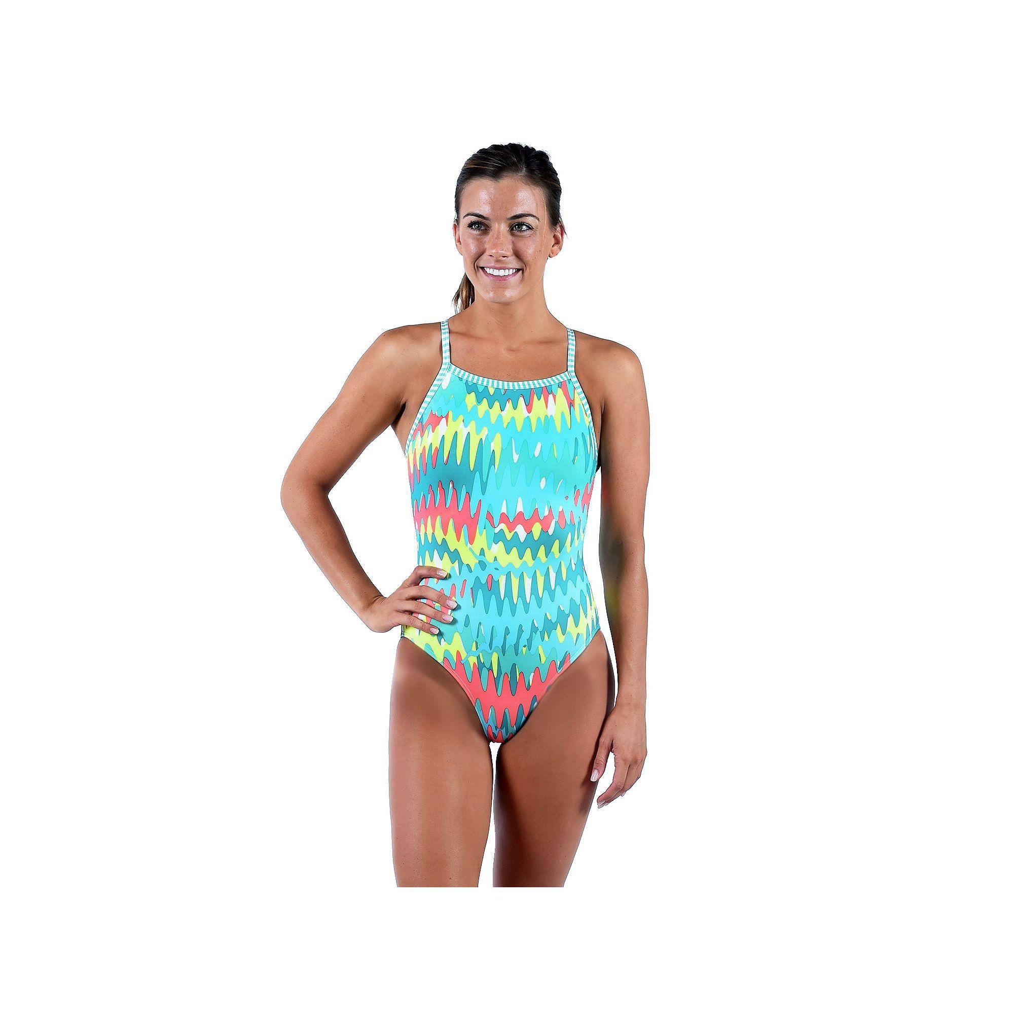 4fd1e2b40f2 Women's Dolfin Uglies V-2 Printed One-Piece Swimsuit, Size: 38 Comp, Light  Pink