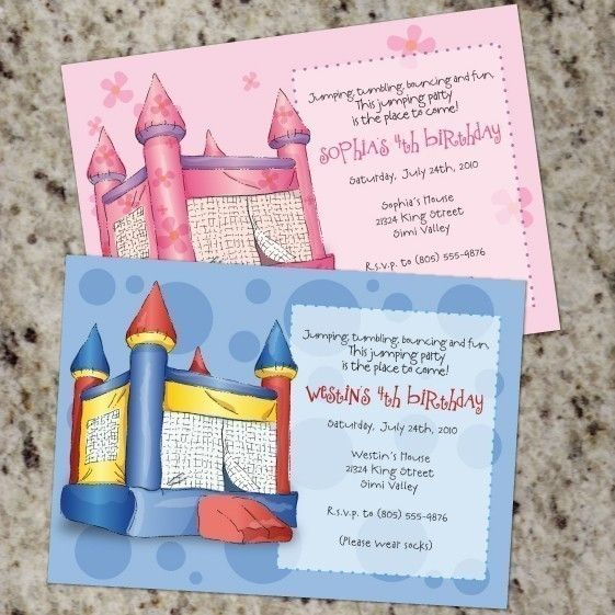 Bouncy CastleFun JumpMoonWalkInflatable Party by Whirlibird – Bouncy Castle Party Invitations