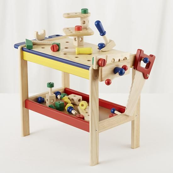 Kids Imaginary Play Kids Toy Workbench Tools Crate And Barrel Wooden Toys Simple Toys Kids Furniture