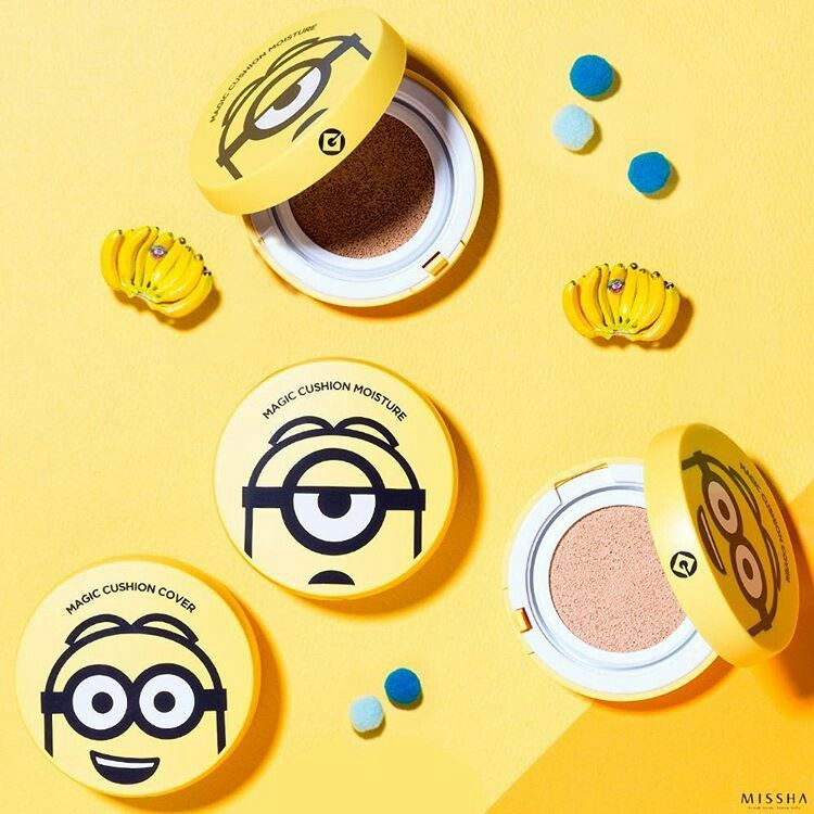 Missha (Minion Edition) Magic Cushion Moisture RM116   #magiccushionmoisture #missha #naturalbeautykshop #minion