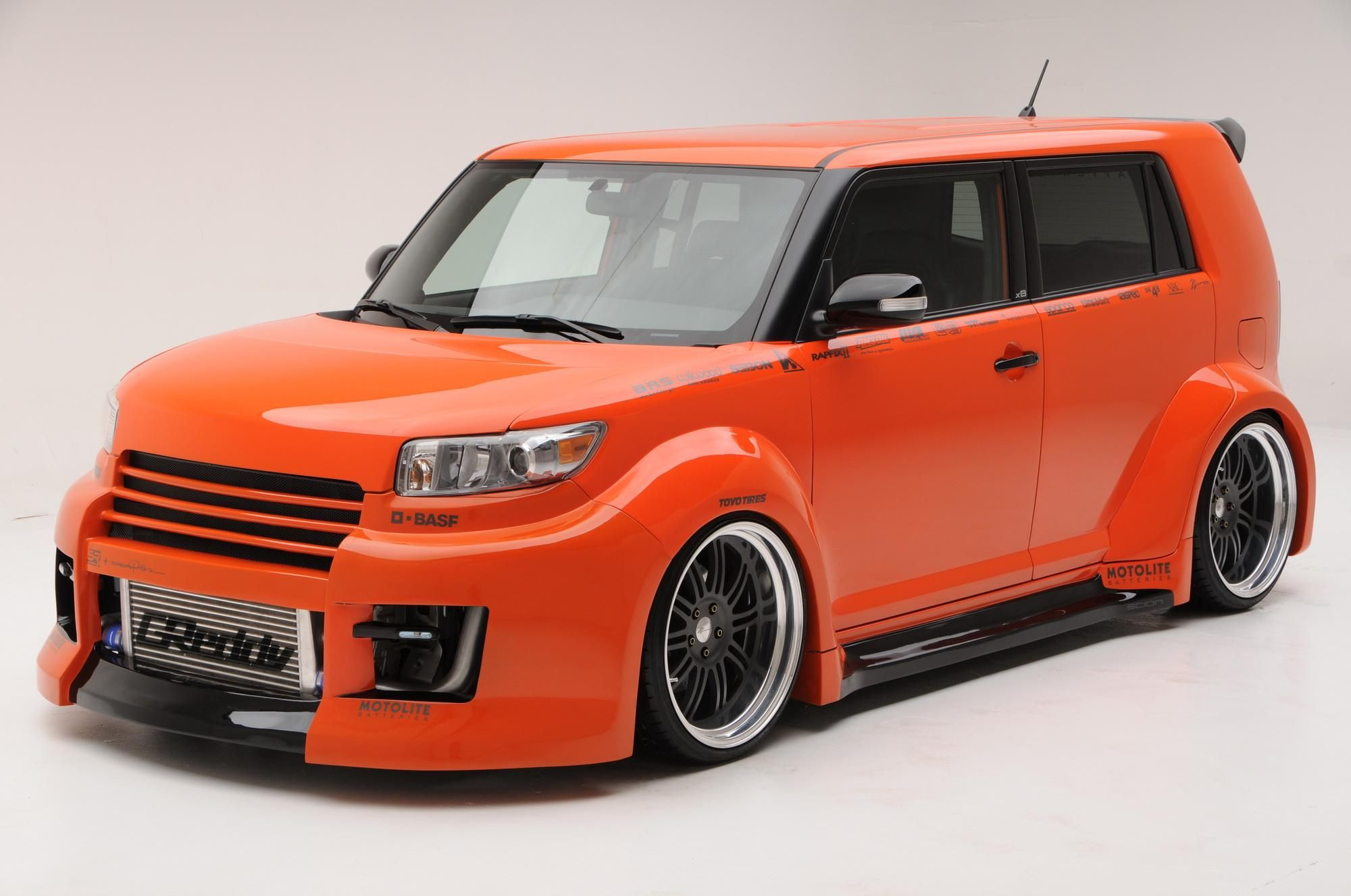 The Second Scion Presented At Sema Show Is The Xb Tuner Challenge By Eneri Abillar It Features A Brs Widebody Kit With Scion Xb 2009 Scion Xb Toyota Scion Xb