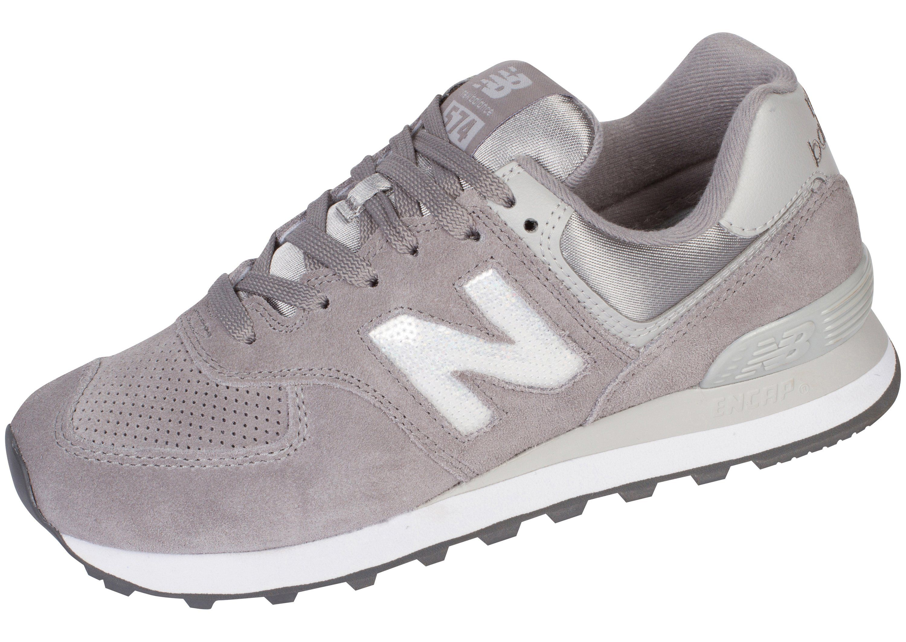 detailed look fd620 768d1 New Balance Womens 574 Holiday Sparkler Marblehead with ...