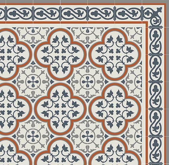 Decorative Tile Patterns Pvc Vinyl Mat Tiles Pattern Decorative Linoleum Rug Orange