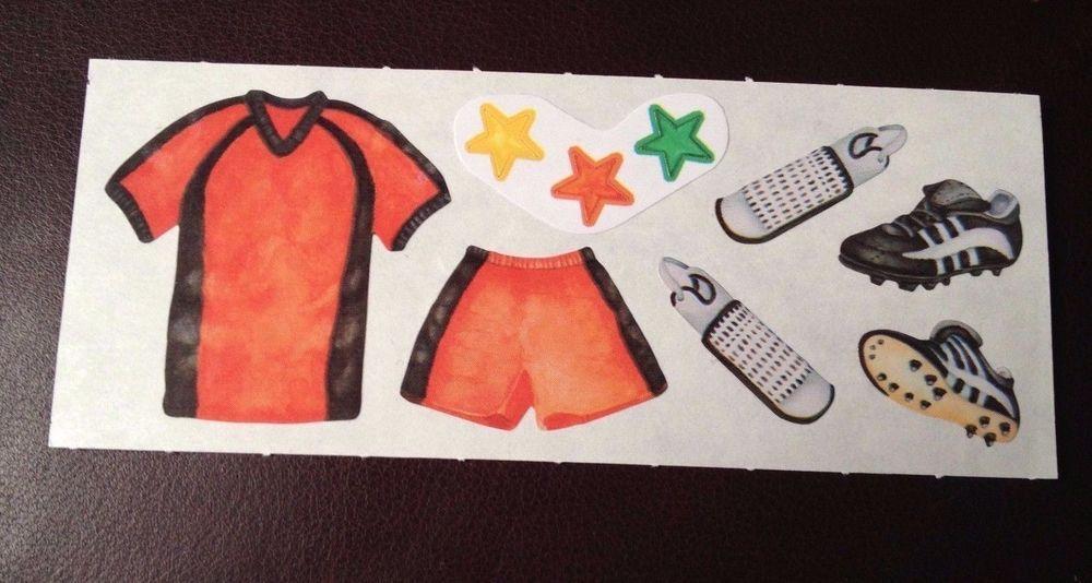 CREATIVE MEMORIES STICKERS: SOCCER UNIFORM CLEATS SHIN GUARDS STARS #CreativeMemories