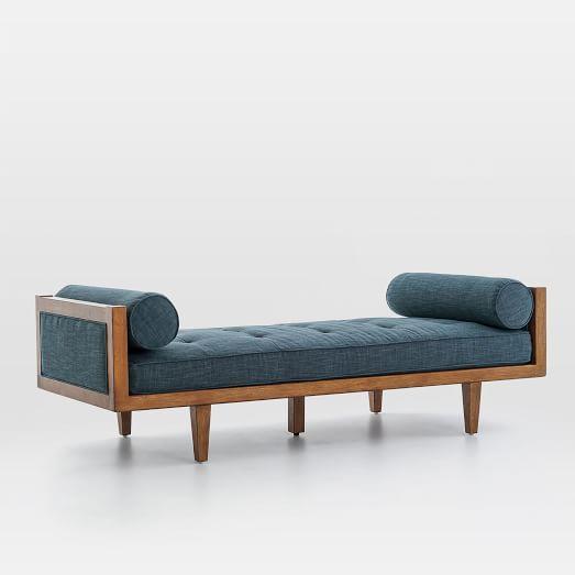 Wood Frame Tufted Daybed   Sala de estar, Bancos y Decoración